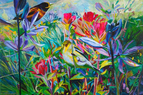 ELLEN DITTEBRANDT - Birds B...such amazing colours in this artist's works...