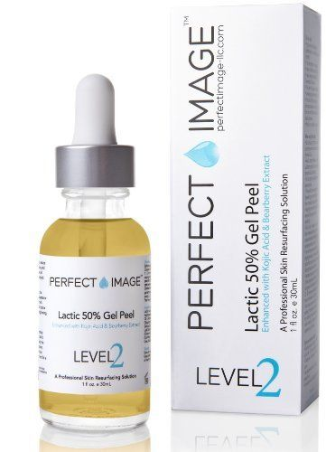 Lactic Acid 50% Gel Peel - Enhanced with Kojic Acid & Bearberry Extract (Professional Chemical Peel) by PERFECT IMAGE.