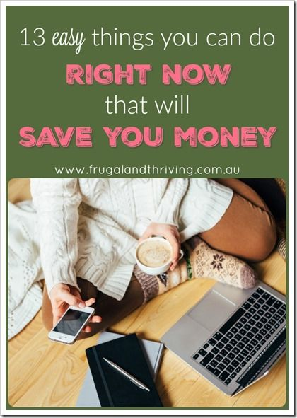 Feeling unmotivated when it comes to saving money? Overwhelmed and don't know where to start? Here are 13 things you can do in one day that will not only save you a ton of money, they will continue to save you money into the future.