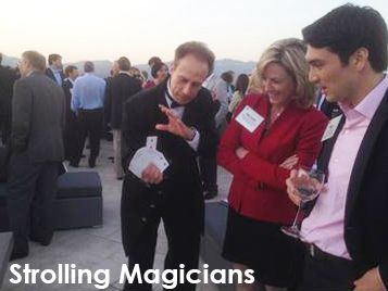 Halloween Magic - The night won't be complete without a strolling magician. Watch in amazement as he strolls around dazzling guests, some of which might be dressed as magicians, with his variety of illusions.