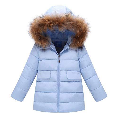 Kids Boys Girl Winter Warm Hooded Coat Thick Cotton Jacket Outwear Snowsuit