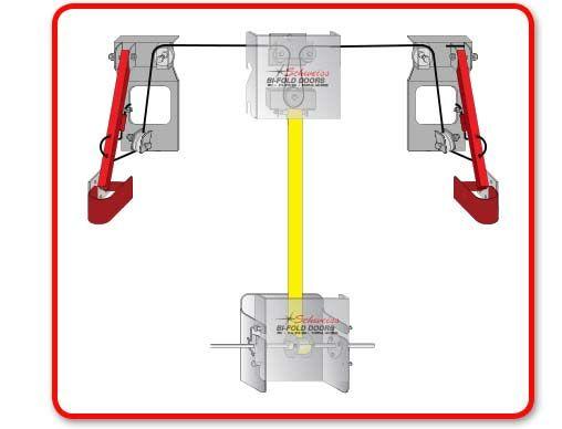 Standard Auto Arm Latch Bifold Doors Wardrobe Rack Automatic Door