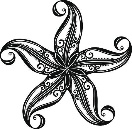 these stunning starfish tattoos are sure to dazzle you tatouages de sir nes pochoirs tatouage. Black Bedroom Furniture Sets. Home Design Ideas