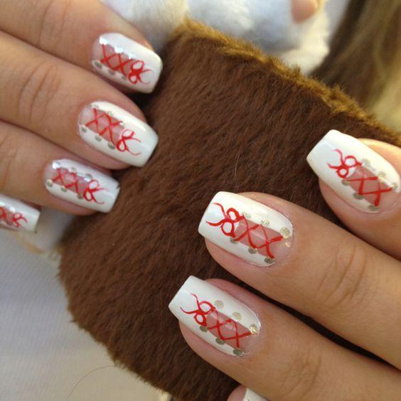 Unhas com laços!: Nails Art, Nail Arts, Hair Nails Makeup Fashion, Nail Ideas