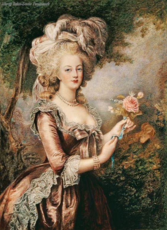 Marie Antoinette (1755-93) after Vigee-Lebrun. Giclee by Louise Campbell Clay.