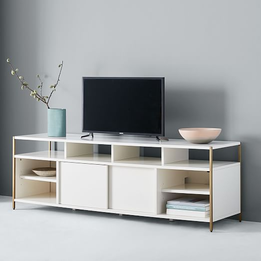 Zane 160 Media Console 68 Quot White Modern Media Console