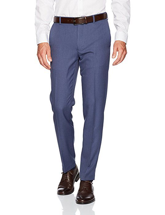 Van Heusen Men S Traveler Slim Fit Pant Ash Navy 28w X 30l At Amazon Men S Clothing Store Mens Dress Pants Mens Outfits Slim Fit Men