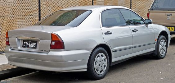 1996 Mitsubishi Magna (TE) Altera sedan with an Australian-made V6 engines with a 3.0-litre capacity (codenamed 6G72) for the Magna and a 3.5-litre displacement for the Verada (codenamed 6G74). The V6 returned official city and highway fuel consumption figures of 10.5 L/100 km (22 mpg-US) and 6.6 L/100 km (36 mpg-US), respectively.