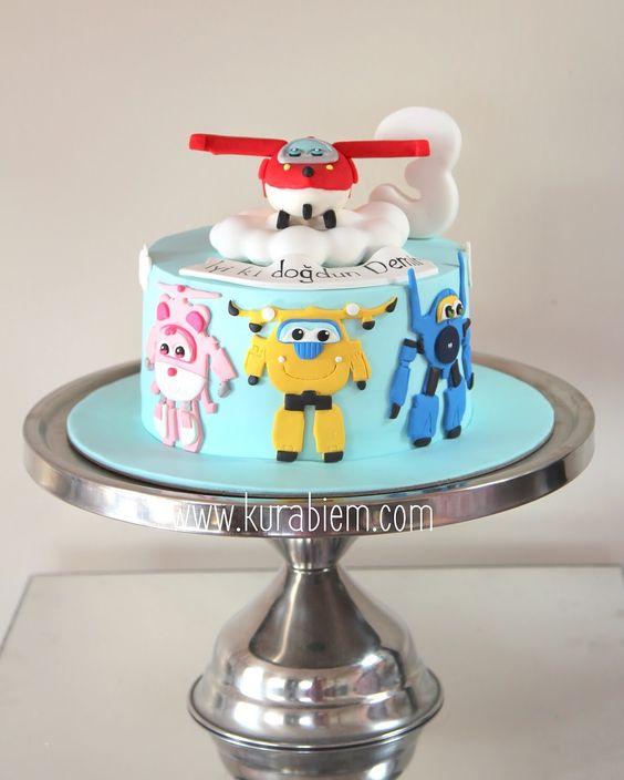 Super Wings Cake Harika Kanatlar Pastas Birthday Cake