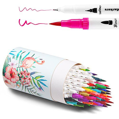 Ohuhu Water Coloring Brush Pens Set Of 3 Brush Tips For
