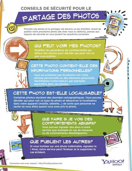 Prendre une photo et la partager est devenu un jeu d'enfant.  Avant de publier votre prochaine photo (de chez vous ou dehors), pensez aux aspects de sécurité en vous posant les questions suivantes