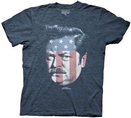 Amazon.com: Parks and Rec Ron Swanson Stars & Stripes T-Shirt: Clothing