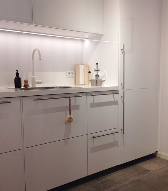 Love All The Clean White Surfaces In Siren S Ringhult Kitchen Live From Ikea Family High Gloss Kitchen Cabinets White Gloss Kitchen Doors Glossy Kitchen
