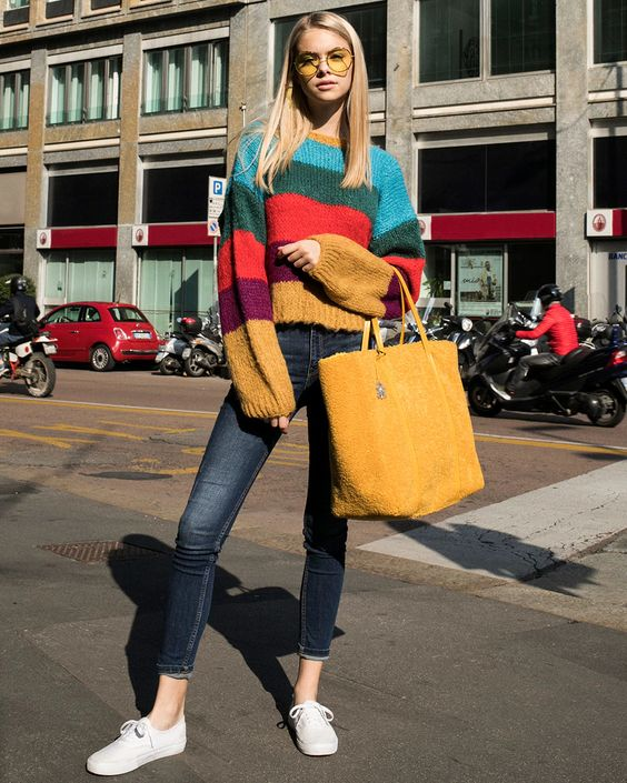One on One x TBS Rainbow Sweater - 130€ #theradicalblog #falloutfits #sweaters