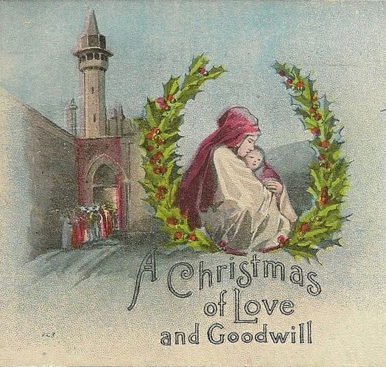 Serene and Lovely Vintage Christmas Postcard by TheOldBarnDoor