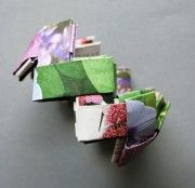 Handmade bracelet from magazine pages. Very pretty. And very inexpensive, too!