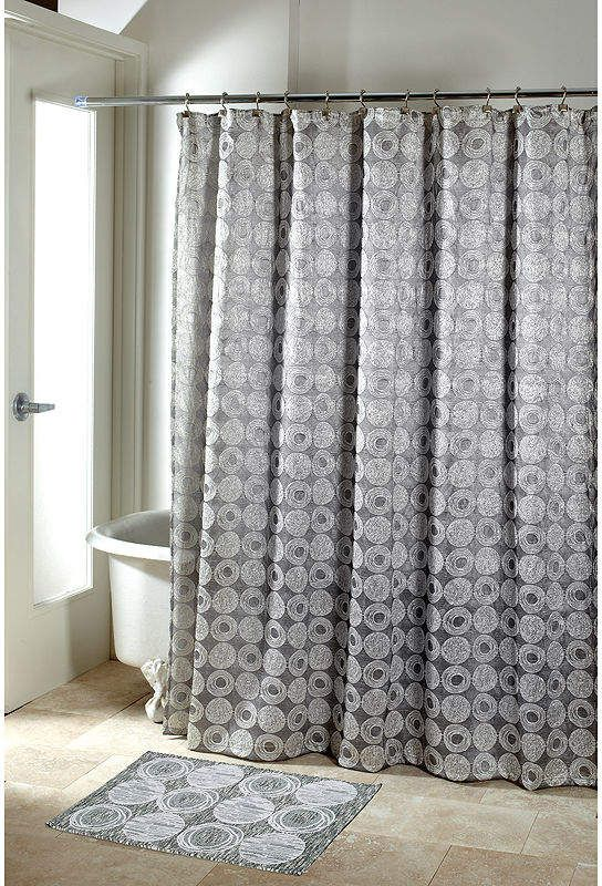 Avanti Galaxy Silver Shower Curtain Silver Shower Curtain