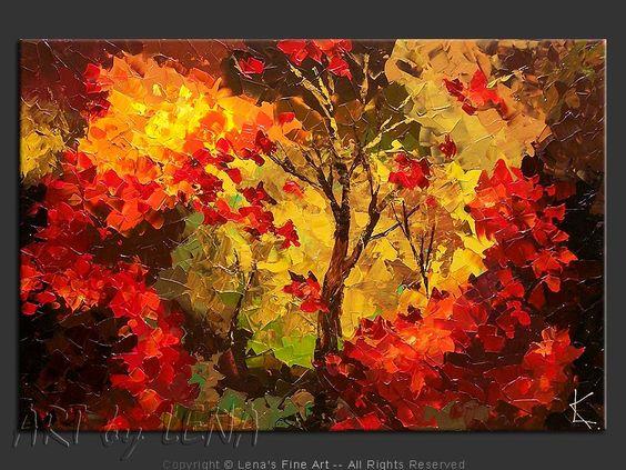 """Northern Wonders"" - Original Landscape Art by Lena Karpinsky, http://www.artbylena.com/original-painting/20442/northern-wonders.html"