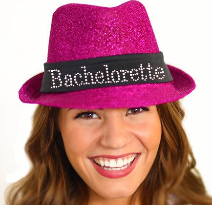 Sparkle Hot Pink Fedora with Black Band - Bachelorette Party, Girls Night Out, Final Fling, Bridesmaid, MOH, Bride, Maid of Honor