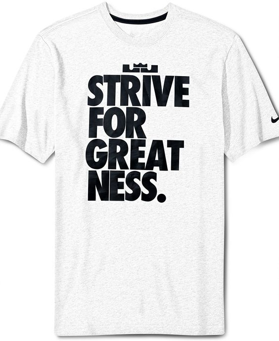 Nike t shirt lebron strive for greatness graphic tee for Lebron shirts for sale