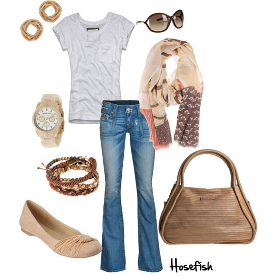 Very casual & comfy for a day look. Then for the Fall/Winter night out to some casual place, I would wear it with boots & add a denim jacket or a brown leather one:) -Missy