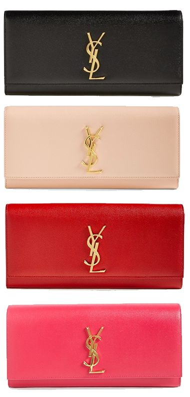 ysl cabas price - Monogram' Leather Clutch | Clutches, Leather Clutch and Arm Candies