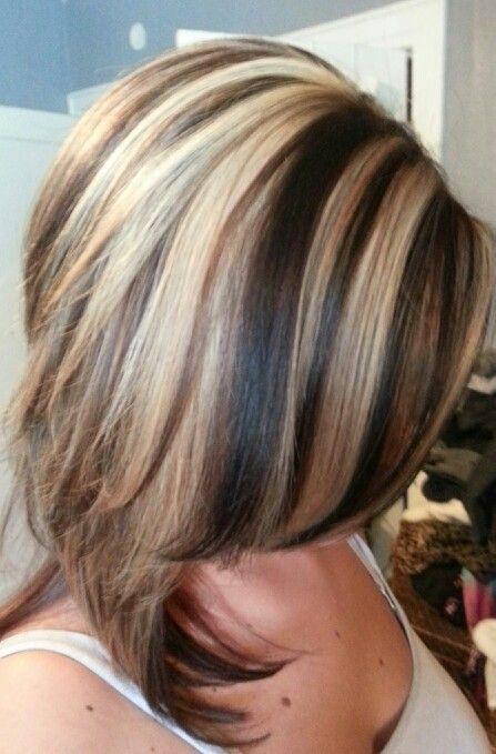 Highlights Search and Hairstyle ideas on Pinterest : Highlightlowlight Hair Ideas