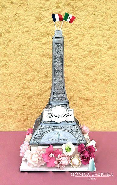 Pastel Torre Eiffel Monica Cabrera Cakes www.monicacabreracakes.com Puebla, México