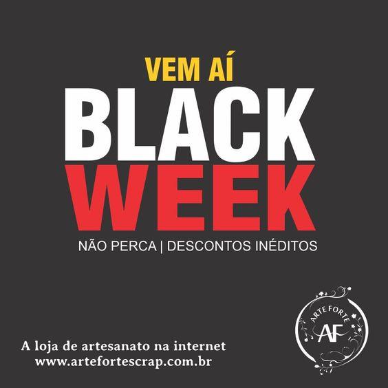 A nossa Black Week está chegando com até 50% de Desconto.  Você não pode perde!!! Em breve mais informações... AGUARDEM  www.artefortescrap.com.br