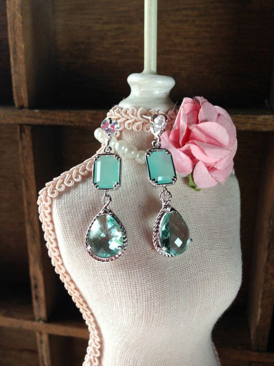 Boucles d'oreilles Scarlett Bijoux Mariage par SautoirEtPoudrier
