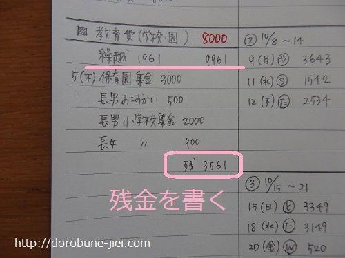 家計簿の付け方教育費 家計簿 家計簿 書き方 家計