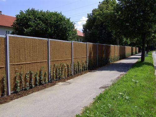 Mur anti-bruit avec panneau modulaire / préfabriqué / en bois / en - paroi anti bruit exterieur