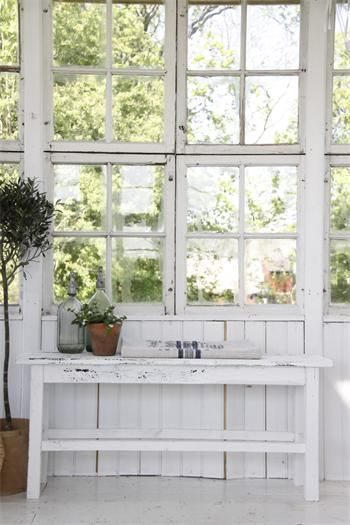 ♕ lovely greenhouse room from Jeanne d'Arc Living