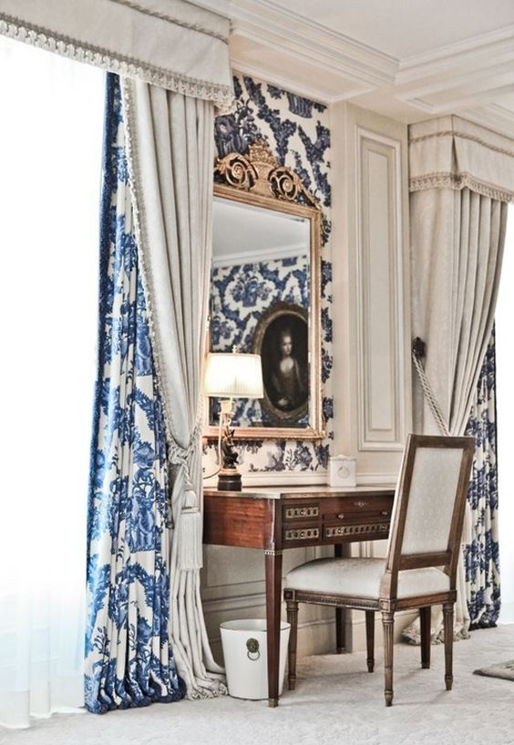 Blue and White ... love the print with the solid: