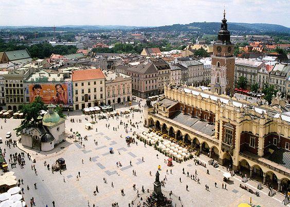 The square in Krakow, Poland