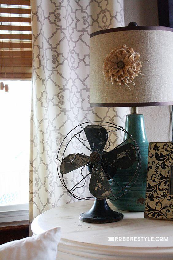 扇風機 インテリア アンティーク コーディネート例
