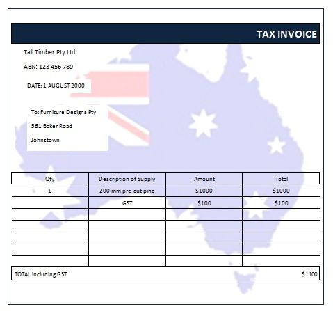 Australian Tax Invoice 15 Austrialian Tax Invoice Templates - invoice with gst template
