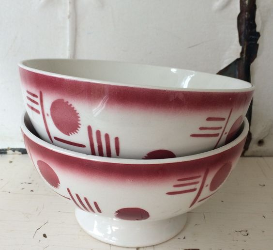 vintage french latte bowls...