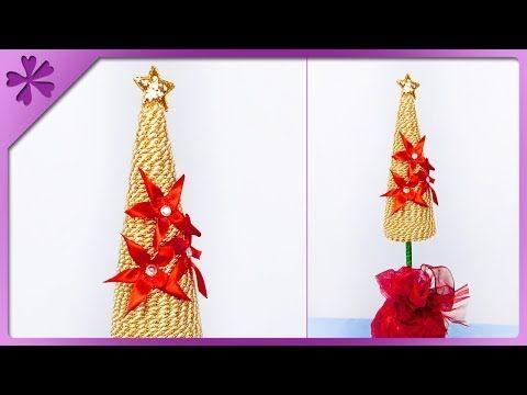 Kwiaty Ze Wstazki Diy Youtube In 2021 How To Make Christmas Tree Floral Foam Kanzashi Flowers