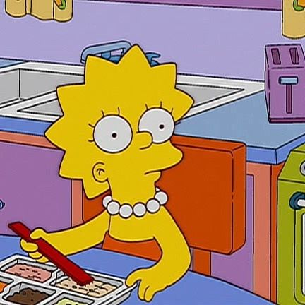 My #wcw is Lisa Simpson... Because... Well... She's smart and she stands up for what she believes in! #lisasimpson #vegetarian #buddhist and she eats w a plank by alegarza77
