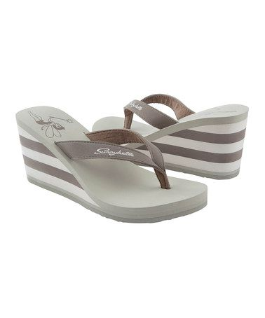 Another great find on #zulily! Taupe High-Society Flip-Flop - Women by Sunnybelle #zulilyfinds