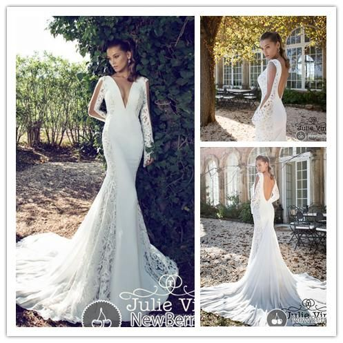 Find More Wedding Dresses Information about 2015 Sexy mermaid Deep V Neck Openwork lace see through long sleeve wedding dress open back NT 812,High Quality dress daughter,China dress asos Suppliers, Cheap dress british from Suzhou Amy wedding dress co., LTD on Aliexpress.com