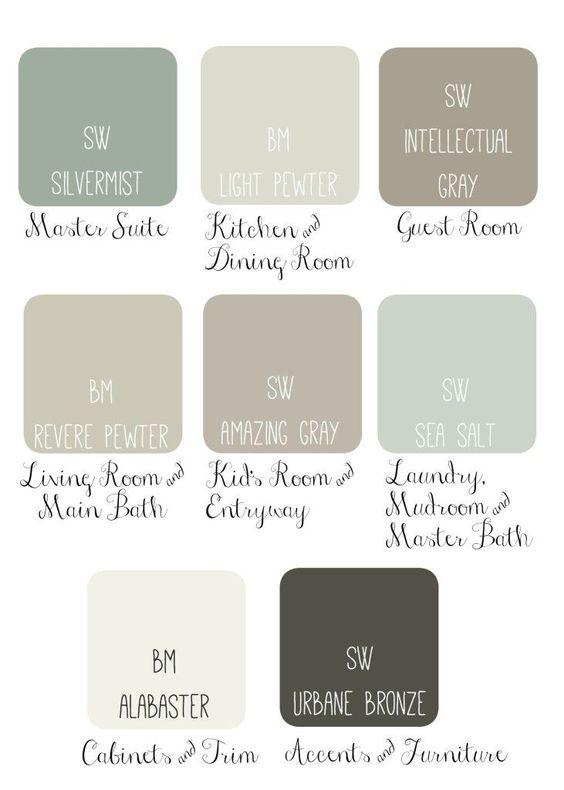 Favorite Paint Color Combinations | Favorite Paint Colors Blog