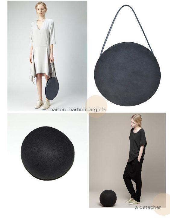 Round About, A Detacher Felt Ball, Maison Martin Margiela Line 11 Round Bag - DeSmitten Design Blog