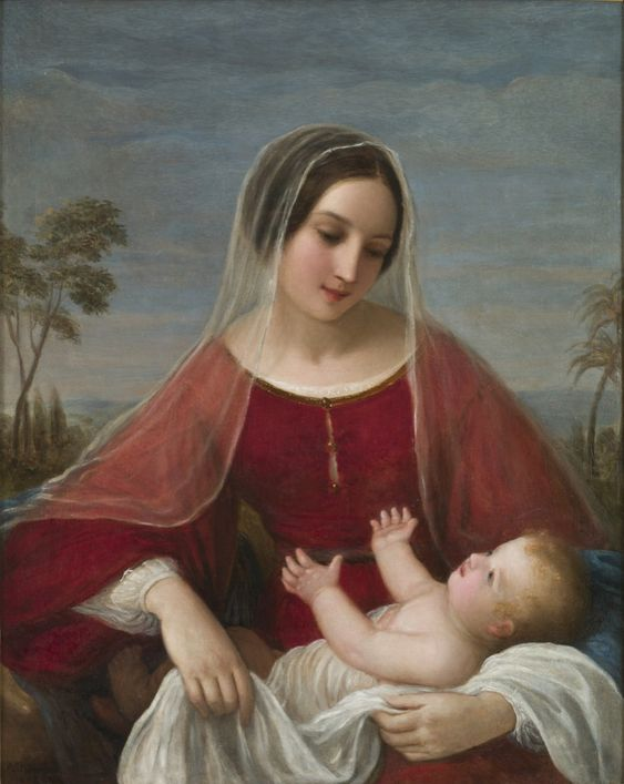 Natale Schiavoni (1777-1858)  — Madonna and Child,  1842  : Museum of Modern and Contemporary Art, Trento and Rovereto.  Italy  (816×1024):