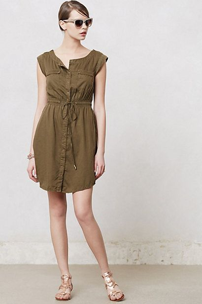 All vets on the go need a good safari outfit :) Drawstring Safari Dress #anthropologie