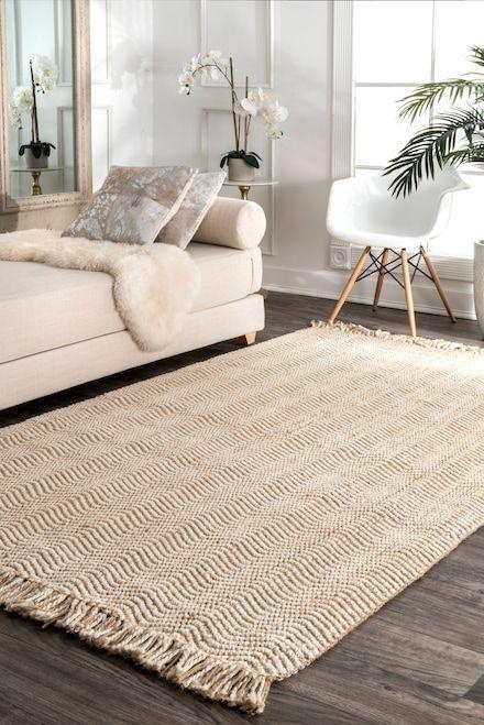 Maui Jute Wavy Chevron With Tassel Natural Rug Rugs In Living Room Jute Rug Living Room Rugs Usa