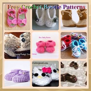 Favorite Free Crochet Baby Booties, Sandals and Slipper Patterns from around the web.