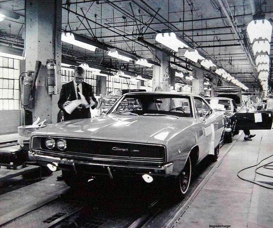 1968 Charger assembly line