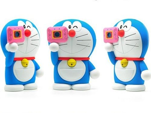 iPhone 4s Cases Disney Characters 3d | Disney 3d Doraemon Movable Camera Flip Hard Case Cover for iPhone 4/4S ...